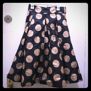Anthropologie moulinette sœurs polka dot skirt